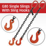 Grade 80 Single Chain Slings with Sling Hook