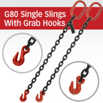 Grade 80 Single Chain Slings with Grab Hook