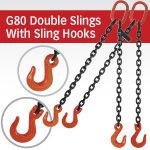 Grade 80 Double Chain Slings with Sling Hooks