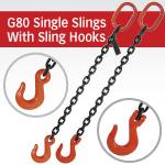 Grade 80 Single Chain Slings with Sling Hook
