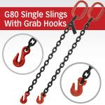 Grade 80 Single Chain Slings with Grab Hook