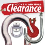 Clearance Hooks & Anchors