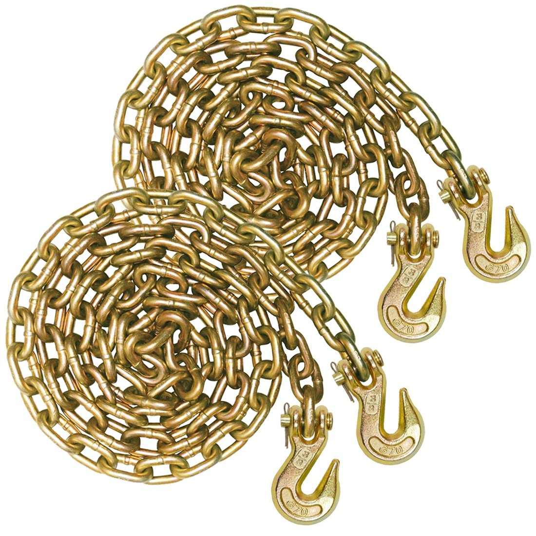 Grade 80-1//2 Inch x 10 Foot VULCAN Chain and Binder Kit Tie Down Loads Weighing Up to 48,000 Pounds