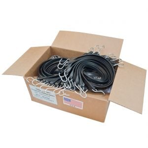 50 Pack -  USA Made Tarp Straps With Crimped Hooks
