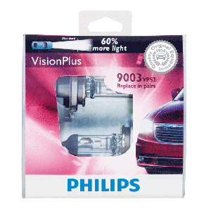 Philips VisionPlus Replacement Headlight Bulbs