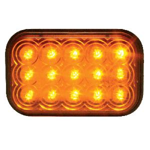 LED Amber Turn  Light Grommett Mount Rectangular