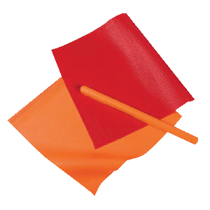 Throw-Away Warning Flags 100 pack