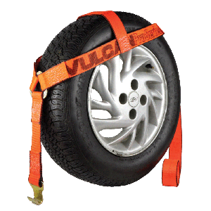 VULCAN PROSeries Bonnet Style Wheel Dolly Tire Harness with Flat Hook, 1665 lbs SWL