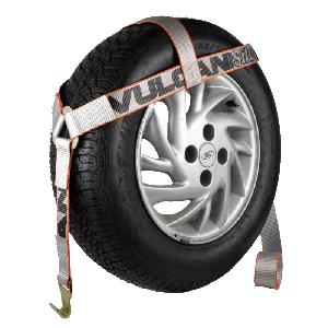 VULCAN Silver Bonnet Style Wheel Dolly Tire Harness with Flat Hook, 1665 lbs. SWL