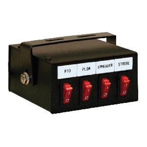 Four Function Illuminated Rocker Switch Box