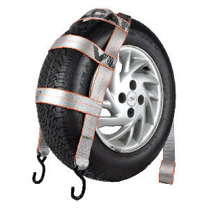 VULCAN Silver 78'' Basket Style Wheel Dolly Tire Harness with S-Hooks, 1665 lbs. SWL