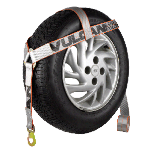 VULCAN Silver Bonnet Style Wheel Dolly Tire Harness with Snap Hook, 1665 lbs. SWL