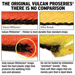 """VULCAN PROSeries 2"""" Winch Straps with Flat Hook"""