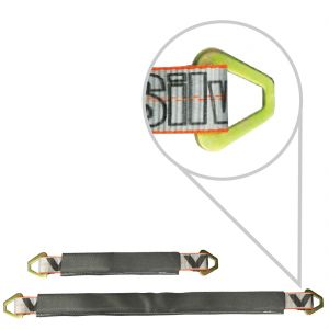 VULCAN Silver Series 3 ply 2'' Axle Straps with Wear Pads