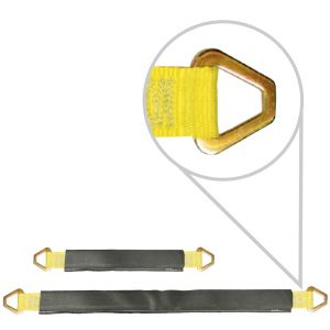 VULCAN Classic Yellow Series 3 ply 2'' Axle Straps with Wear Pads