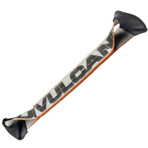 VULCAN Car Tie Down Axle Strap with Wear Pad Eyes - Eye and Eye - 2 Inch x 22 Inch - Silver Series - 3,300 Pound Safe Working Load