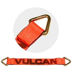 VULCAN Car Tie Down Axle Strap - 3 Inch x 30 Inch - PROSeries - 5,000 Pound Safe Working Load