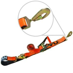 VULCAN PROSeries 2'' Axle Tie Down Combo Straps with Snap Hooks