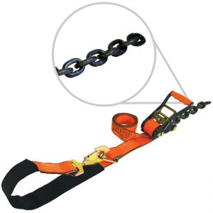 VULCAN PROSeries 2'' Axle Tie Down Combo Straps with Chain Tails