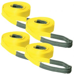 VULCAN Tow Strap Kit Standard Duty - 5,000 Pound Towing Capacity - Includes (2) 2 Inch x 20 Foot Tow Straps and (2) 2 Inch x 30 Foot Tow Straps with Reinforced Eyes
