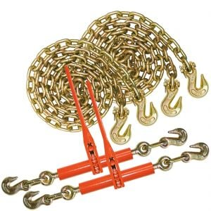 VULCAN Chain and Binder Kit - Grade 70 - 3/8 Inch x 20 Foot - 6,600 Pound Safe Working Load