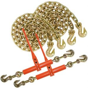 VULCAN Chain and Load Binder Kit - Grade 70 - 3/8 Inch x 10 Foot - 6,600 Pound Safe Working Load