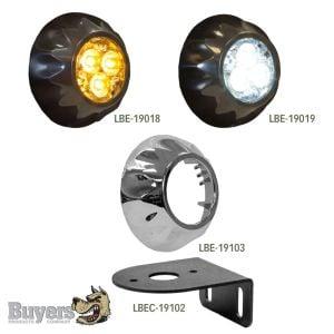 Buyers Round LED Surface Mount Strobe Lights