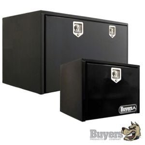 BUYERS Steel Underbody Toolboxes - Black with Single Door