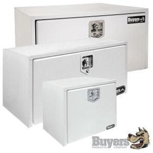 BUYERS Steel Underbody Toolboxes - White
