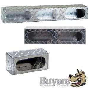 Enclosed Light-Mounting Boxes - Diamond Tread Aluminum