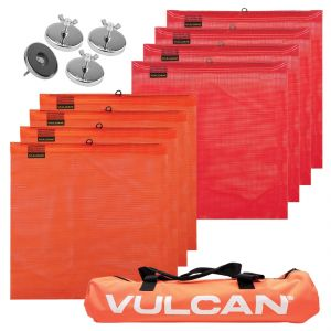 VULCAN Heavy Duty Magnet Kit with Wire Loop Flags - Includes Vented Storage Bag