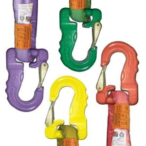 Latched Rigging Hooks For Synthetic Slings