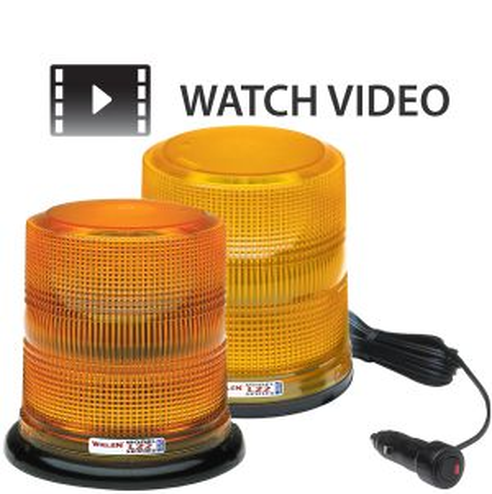 Whelen High Dome 6.5'' LED Amber Beacons
