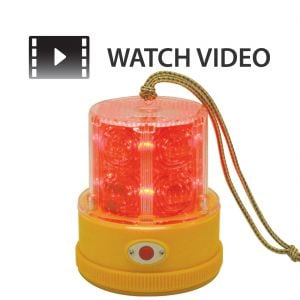 Portable Magnetic 4.75'' Red LED Safety Beacon