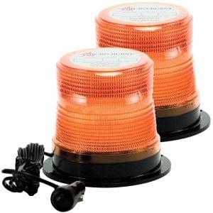 North American Signal Class 1 Quad Flash 5.5'' Microburst Amber Beacons