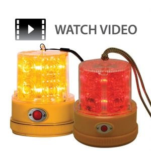 Magnetic 4.75'' LED Safety Beacons (Amber or Red)