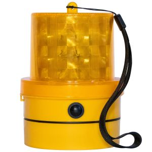 VULCAN Amber Emergency Warning Beacon - Portable, Magnetic, And Battery-Operated - 24 LEDs - Photocell Technology