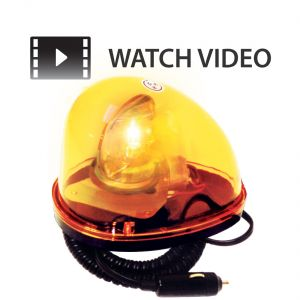 Magnetic Incandescent Tear Drop Beacon - Amber