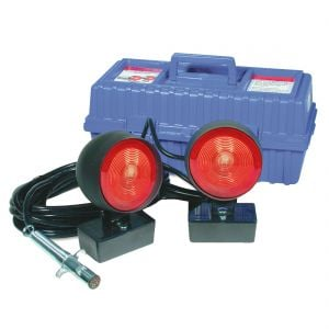Rectangular Base Magnetic Rubber Tow Lights