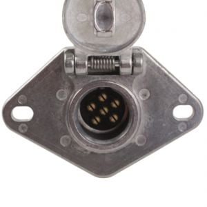 Socket for Tow Lights with Wire Guard (6-wire)