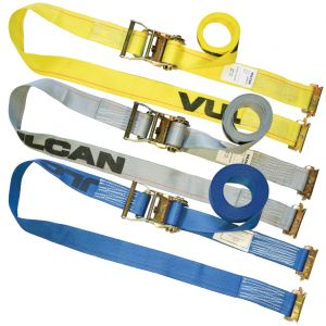 VULCAN Logistic Straps for E-Track - Ratchet Strap Style