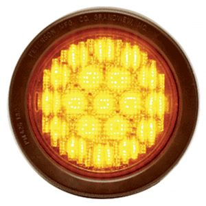 Self-Contained Round Flashing LED Lights