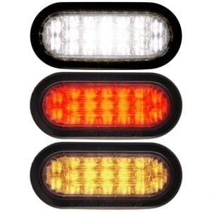 "Self-Contained 6"" Oval Flashing LED Lights"