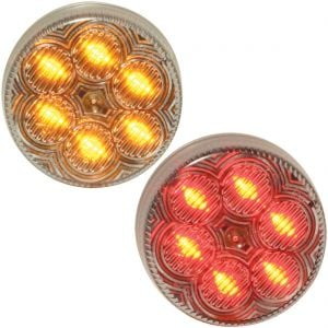 "MAXXIMA 2"" 6-LED Marker Lights - Clear Lens"