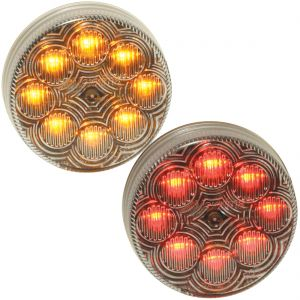 "MAXXIMA 2.5"" 8-LED Marker Lights - Clear Lens"