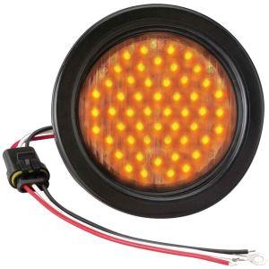 """Flashing LED Warning Light - 4"""" Round"""