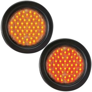"Flashing LED Warning Light - 4"" Round"