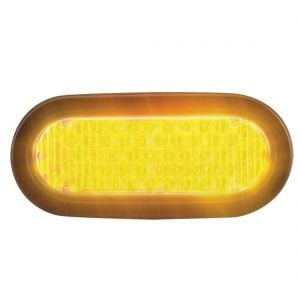 "Flashing LED Warning Light - 6"" Oval"