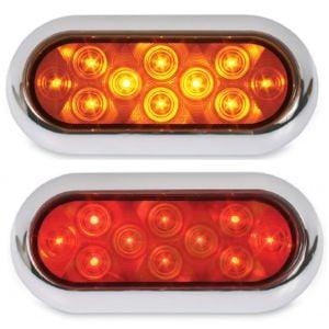 "6"" Oval Flat Back LED Lights"