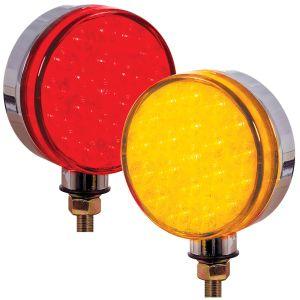 LED Lollipop Light Single Face Pedestal Type Amber